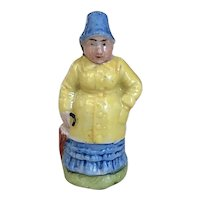 Charming Old German Porcelain Miniature Nanny McPhee Figurine Doll