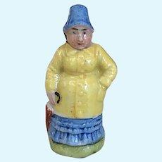Charming Old German Porcelain Miniature Nanny McPhee Figurine Doll