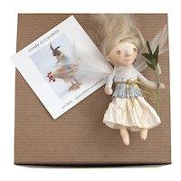 Sweet Handmade Spun Cotton Art Doll Ornament by Cindy Riccardelli #1