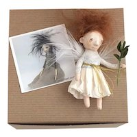 Sweet Handmade Spun Cotton Art Doll Ornament by Cindy Riccardelli #2