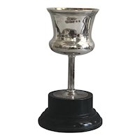 Beautiful Antique English Sterling Silver Snooker Trophy on Wood Base