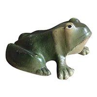 Wonderful Vintage Hubley Cast Iron Figural Frog Doorstop
