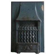 Antique Cast Iron Salesman Sample Fireplace & Surround or Heater Dollhouse Miniature Toy