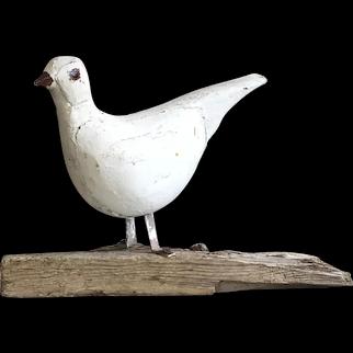 Wonderful Old Handmade Weathered Wood Beach Coastal Decor Bird Folk Art Display
