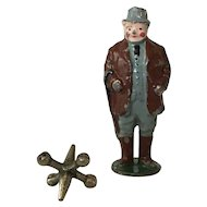 Great Vintage Lead Dapper Gentleman with Cane Toy Soldier Figurine