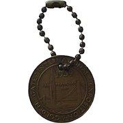 Bronze 1939 San Francisco Golden Gate Inetrnational Exposition Coin Token Fob