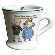Adorable Old Warwick Pottery Nursery Rhymes Children's Mug
