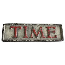 Great Old Cast Iron TIME Magazine Advertising Newsstand Paperweight