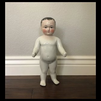 "SUPER Original Antique 15"" Frozen Charlotte Charlie China Doll"
