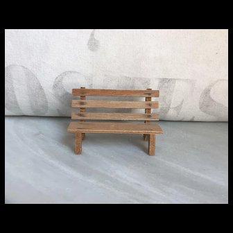 Adorable Vintage Miniature Wood 1:12 Scale Dollhouse Bench Japan