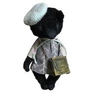 """Darling OOAK Viscose Teddy Bear """"Brigitte"""" By Maria Kushnir"""