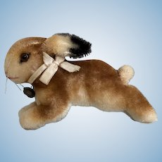 Adorable Vintage Steiff Mohair Running Bunny Rabbit Great Color ID