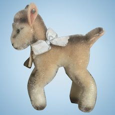 """Wonderful Vintage Steiff Mohair Goat """"Zicky"""" Great Color All ID"""