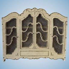 French Antique Art Nouveau Miniature 1:12 Dollhouse Wood Armoire All Original