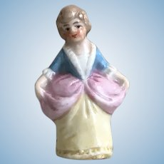 Antique Miniature German Porcelain Lovely Lady Doll Figurine