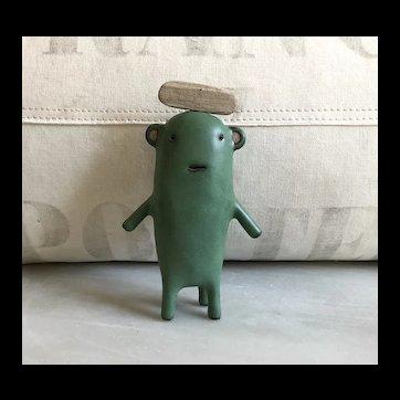 Wonderful Art Pottery Creature by French Artist Godeleine de Rosamel.