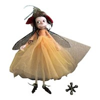 Charming Handmade OOAK Thread Fairy Posable Pixie Doll By Dinky Darlings
