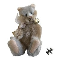 Adorable Small Two Tone Mohair Kitty Teddy by Kathy Mullin Prototype