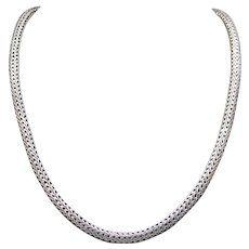Classic John Hardy Sterling Silver 5mm Wheat Link Chain Classic Necklace 16 inch