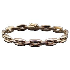 Vintage Tiffany & Co 14k Yellow Gold Classic Link Chain Bracelet 7 Inch