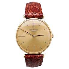 Vintage Patek Philippe Calatrava 18kt Yellow Gold Manual Watch 2592 T-Bar Lugs