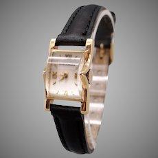 Mid Century Retro Era Girard Perregaux 14k Yellow Gold 17 Jewel Watch GXM 2908 Tear Drop Lugs