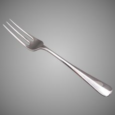 Tiffany & Co. Rat Tail Pattern Sterling Silver Dinner Fork 7 inches English Hallmark