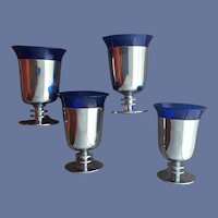 Walter Von Nessen Art Deco Cocktail Glasses Machine Age
