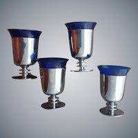 Walter Von Nessen Art Deco Cocktail Glasses Machine Age
