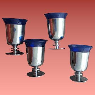 Walter Von Nessen Cocktail Glasses Machine Age Art Deco