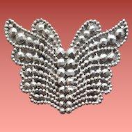 Victorian Cut Steel Belt Buckle Butterfly Sewing Notion