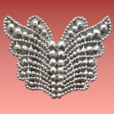 Victorian Cut Steel Belt Buckle Butterfly Sewing Notion