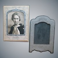 Two Art Deco Picture Frames 1930s Embossed