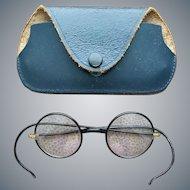 Vintage Eyeglasses Round Gold Filled John Lennon Style