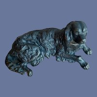 Antique Cast Iron Dog Paperweight Irish Setter