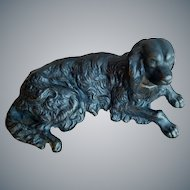 Antique Cast Iron Dog Paperweight Irish Setter