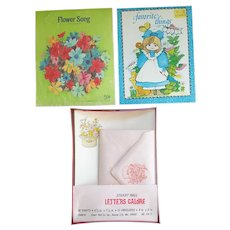 Decorated Vintage Stationery 1970s Sheets and Envelopes