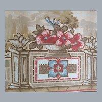 1920s - 1930s Wallpaper Border Baroque Garden