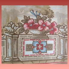 1920s - 1930s Wallpaper Border Baroque Garden