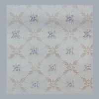 Vintage Wallpaper Lavender Purple Flowers Metallic 1920s - 1930s
