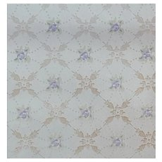 Vintage Wallpaper Lavender Purple Flowers Metallic 1920s - 1930s