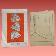 Vintage Sewing Pattern 3 Styles Half Aprons Medium