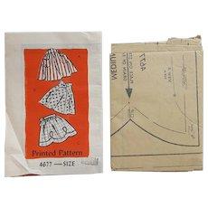 Vintage Sewing Pattern 3 Styles Half Aprons Medium