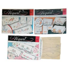 Vintage Embroidery Hot Iron Transfers 3 Envelopes Mint