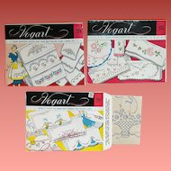 3 Packs Hot Iron Transfers Embroidery Aprons Pillowcases