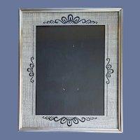 Art Deco Picture Frame Black Silver 1930s