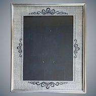 Art Deco Picture Frame Black Silver