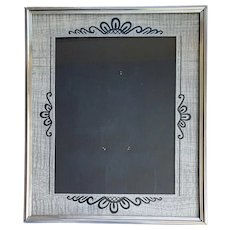Art Deco Picture Frame Black Silver 1930s