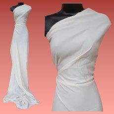 Vintage Wedding White Sewing Fabric 2 + yards