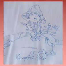 Vintage Pillowcase Tubing Campbell's Soup Kids Boy